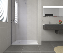 Baño modular plato ducha Contemporary Bathroom Saloni Cerámica
